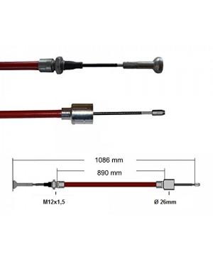Cablu frana Al-Ko, 890/1086 mm, cap ciuperca