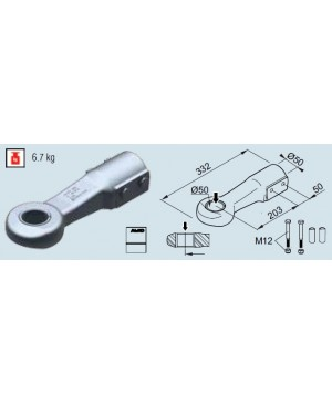 Ochet Al-Ko DIN D50, compatibil 161/251 VB