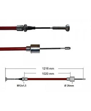 Cablu frana Al-Ko, 1020/1216 mm, cap ciuperca