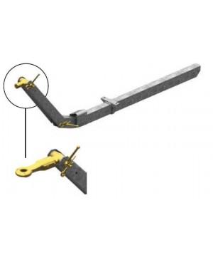 Bara tractare reglabila pe inaltime H/ADJ 70.1VO, 750 kg, 70x110x4x1250 (pt axa 1702079)